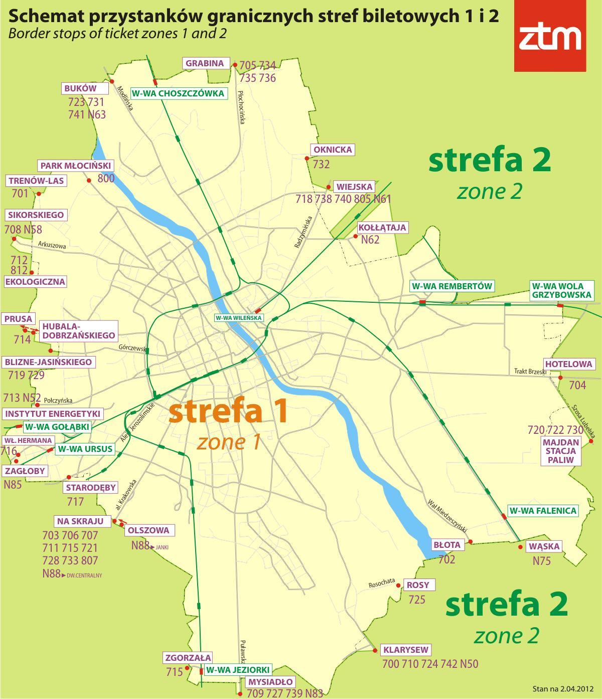 Warszawa Strefy 1 2